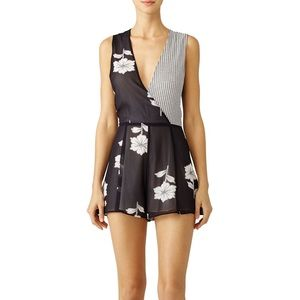Privacy Please Black Floral Printed Romper